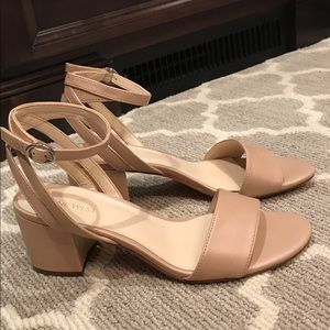 Nude Block Heel Sandal Nine West Sz 7.5
